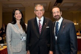 From left to right: Dr. Stavrinos, Ray LaHood, U.S. Secretary of Transportation, and Dr. Fine