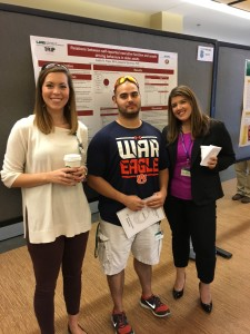Haley Johnson, Benjamin McManus, Caitlin Pope at the 23rd Annual Scientific Symposium for the UAB Comprehensive Center for Healthy Aging.