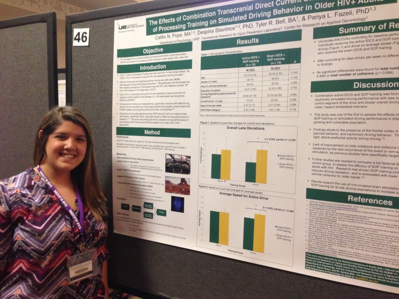 Caitlin Pope at the Minority Health Research Center annual conference, 2016