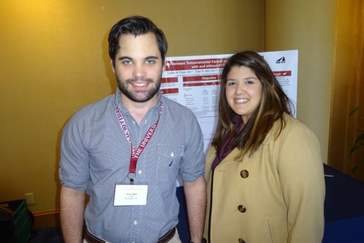 Tyler Bell and Caitlin Pope at the ADHD Conference, 2016