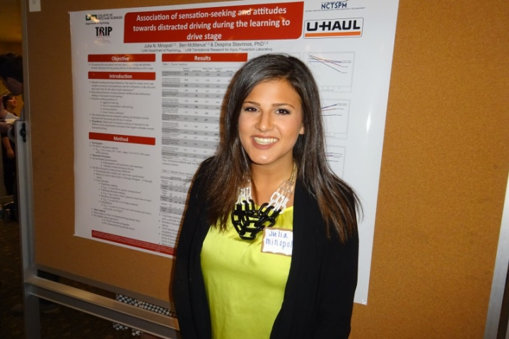 Julia Minopoli at the Ost Undergraduate Research Competition, 2016